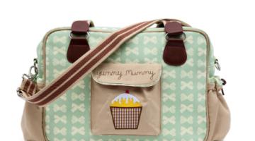 Yummy Mummy Cream Bows on Peppermint Changing Bag