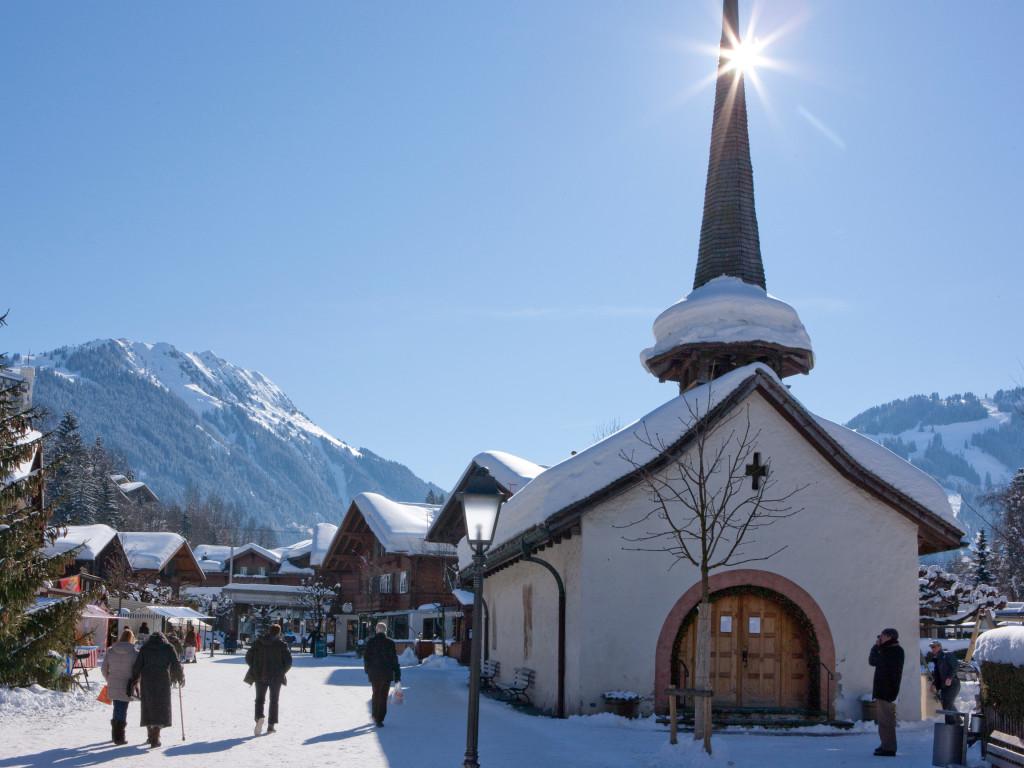 car free promenade of Gstaad