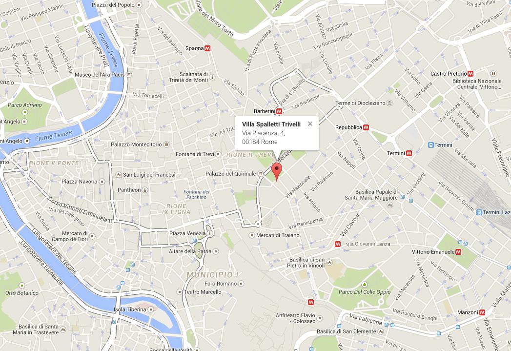 Google Maps Villa Spalletti Trivelli, Location Map