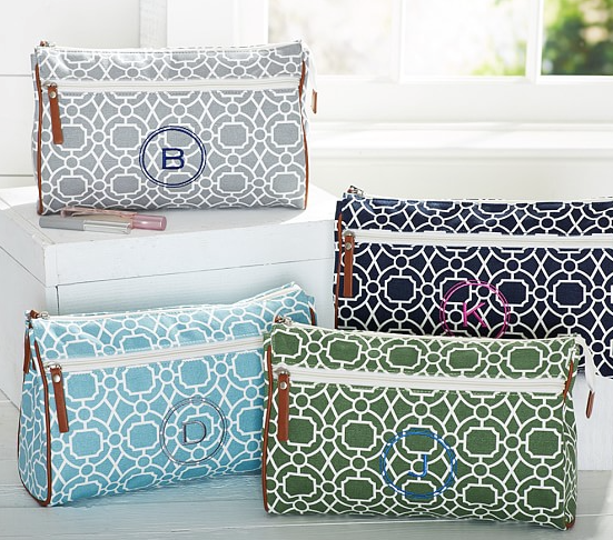 Preppy Geo Cosmetic Bag at Pottery Barn Kids