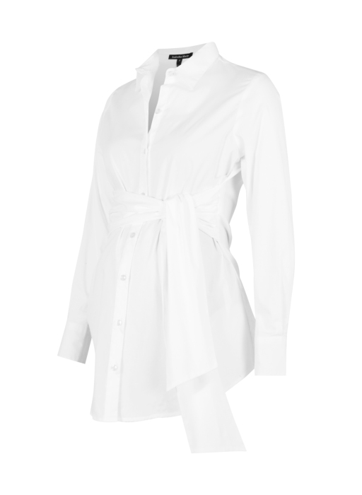 TIE FRONT MATERNITY SHIRT