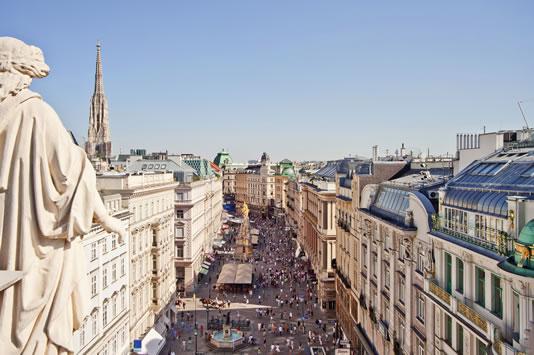 Pregnant in Vienna, Vienna from Above, Am Graben