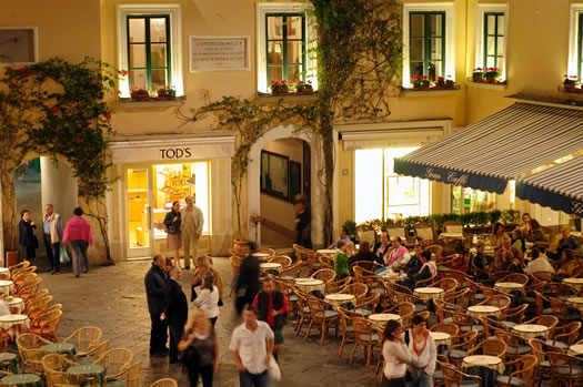 Piazzetta, the heart of Capri
