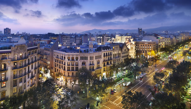 Babymoon at Mandarin Oriental, Barcelona - Views from Terrat Rooftop