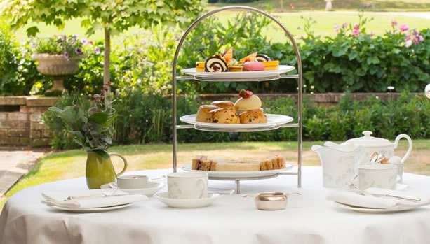 Hampshire Babymoon at Chewton Glen Hotel & Spa, Afternoon Tea