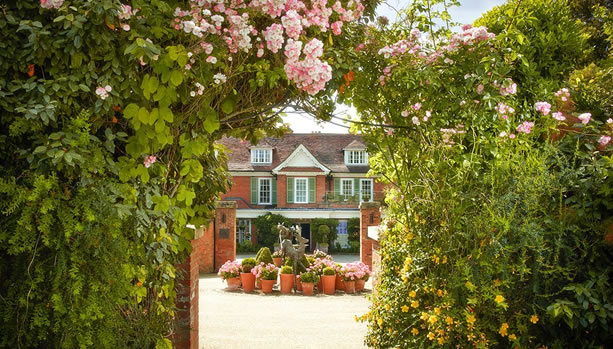 Hampshire Babymoon at Chewton Glen Hotel & Spa, Entrance
