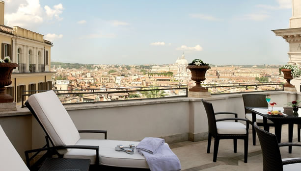 Hassler Roma - Babymoon - Amorvero Spa Terrace