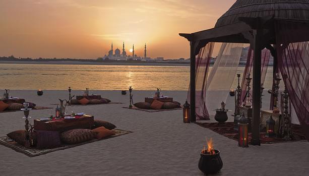 Shangri-La Hotel, Qaryat Al Beri, Abu Dhabi, Babymoon - Theme Dinner Set up