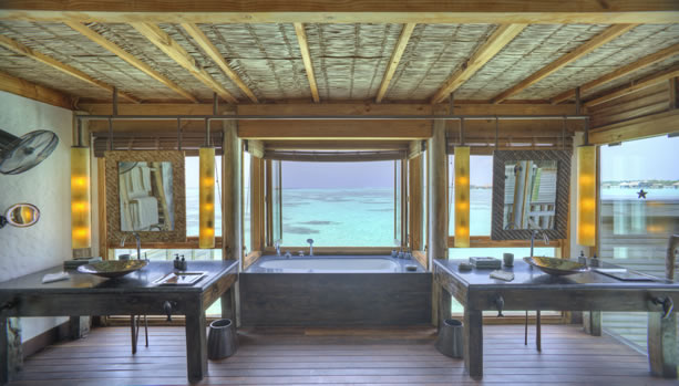 Maldives Babymoon at Gili Lankanfushi - Villa Suite Bathroom