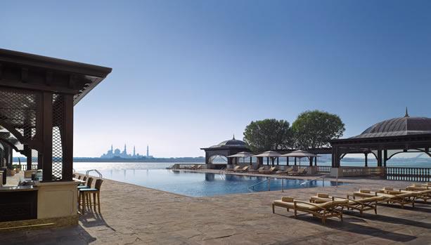 Shangri-La Hotel, Qaryat Al Beri, Abu Dhabi, Babymoon - Poolview