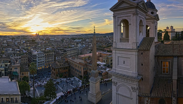 Hassler Roma - Babymoon - View from one of the terraces