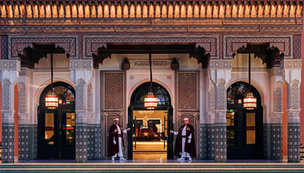 Marrakech Babymoon at La Mamounia - entrance