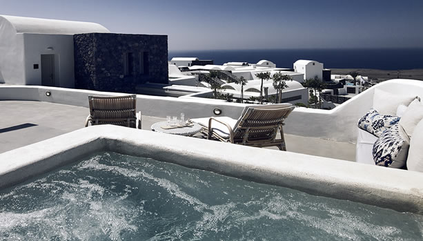 Santorini Babymoon at Santo Maris Oia Luxury Suites & Spa - suite sea view