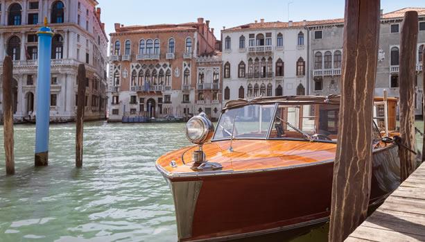 Aman Venice, Italy. Venice Babymoon. Canal Boat