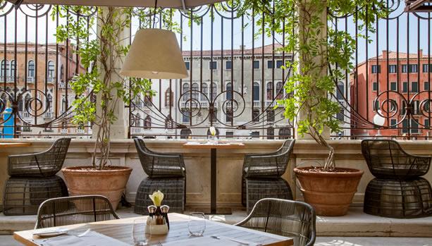 Aman Venice, Italy. Venice Babymoon. Terrace