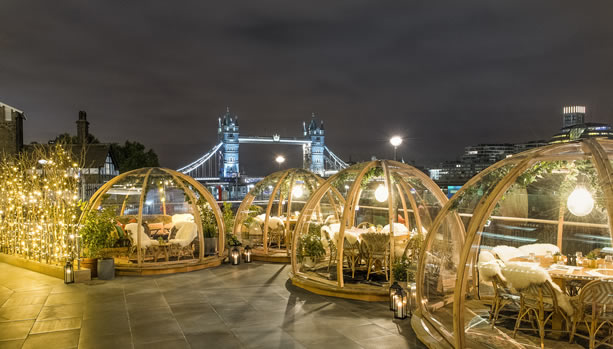 Coppa Club - Tower Bridge View from Igloos