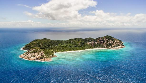North Island - Seychelles Babymoon - North Island, aerial