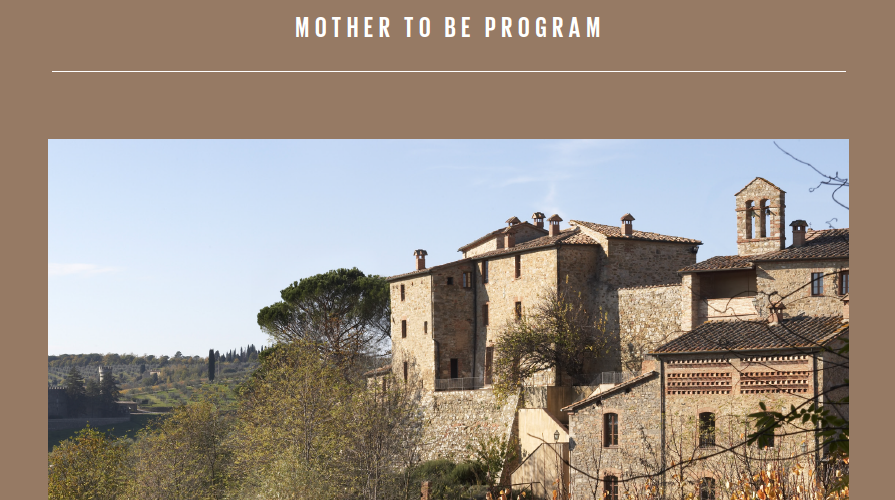 Mother-to-Be Programs at Castel Monastero Resort & Spa