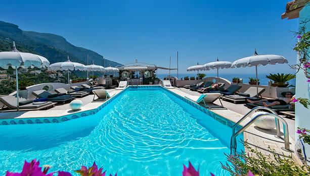 Amalfi Coast Babymoon - Hotel Villa Franca - swimming pool