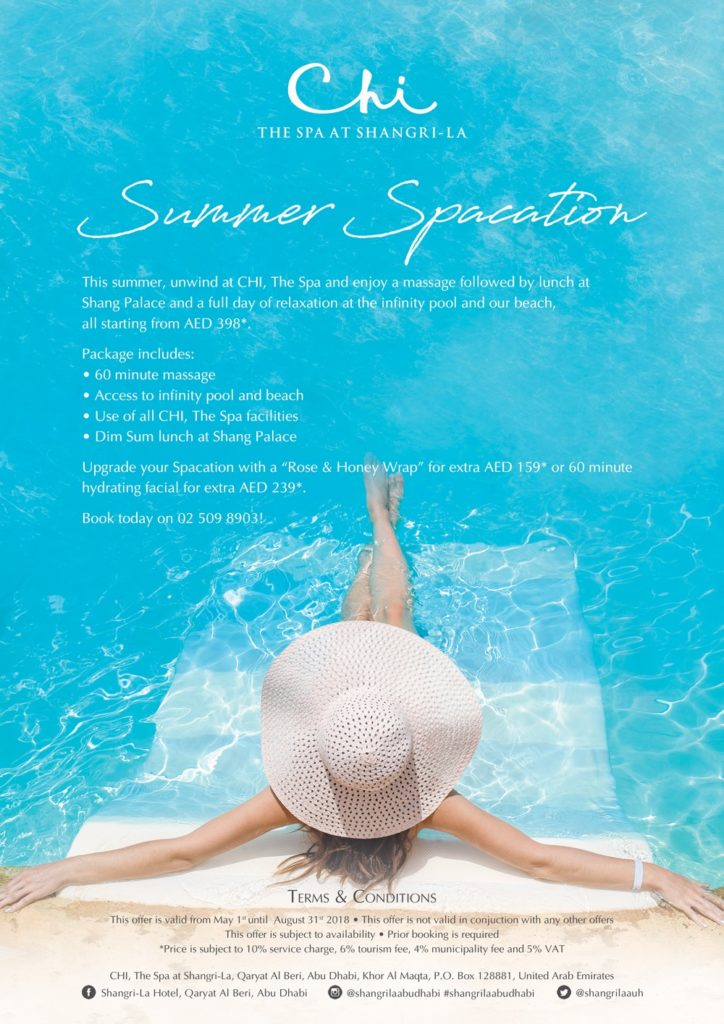 Summer Spacation at Shangri-La Hotel Qaryat Al Beri, Abu Dhabi