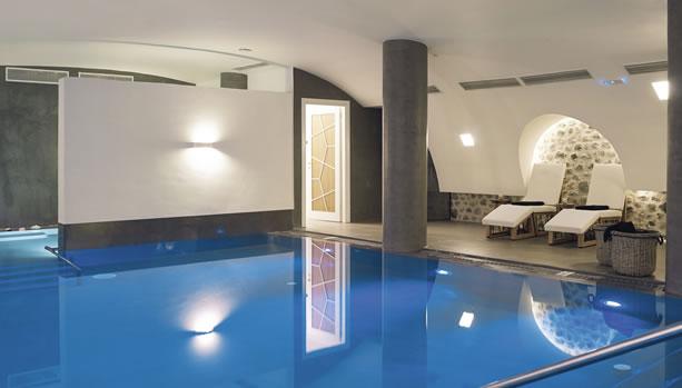 indoor pool, Santorini Babymoon at Santo Maris Oia Luxury Suites & Spa