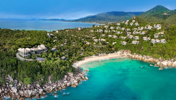 AERIAL OF BANYAN TREE SAMUI