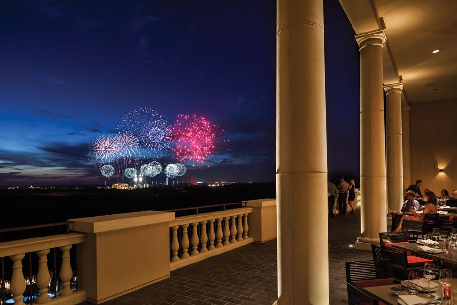 Capa Terrace Fireworks -©Four Seasons Resort Orlando at Walt Disney World® Resort